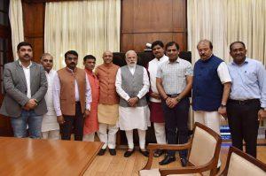 pvs sarma with narendra modi